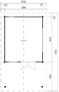 Gartenhaus Mark Bodenplan