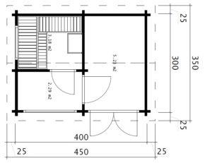 Sauna Finnland Bodenplan