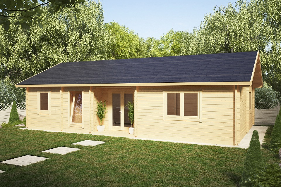 Casa de madera Dune 70m2 / 70mm / 12 x 6 m