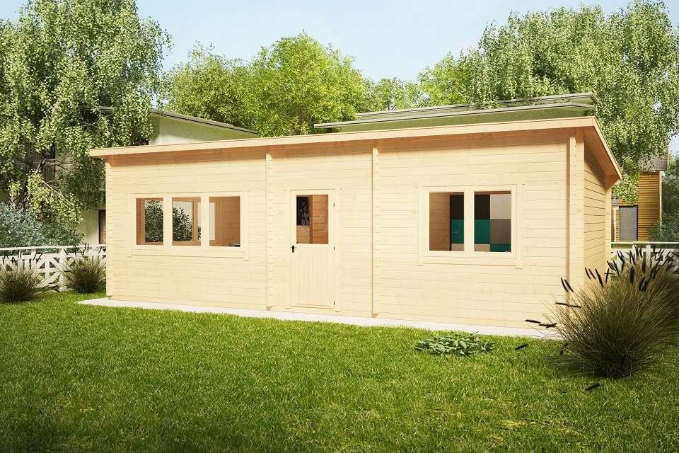 Casa de madera Holiday J 40m2 / 70mm / 4,5 x 9 m
