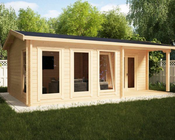 Casa de madera Málaga-1 22m2 / 7 x 4 m / 58mm