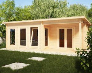 Casa de madera Malaga II 22m2 / 7 x 4 m / 58mm