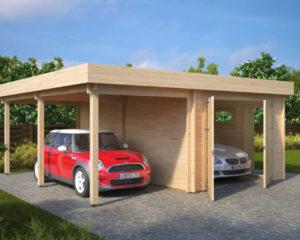 """Garaje de madera """"H"""""""
