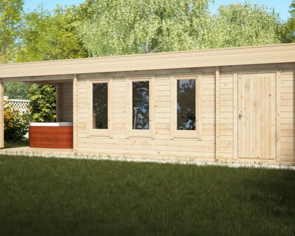 cabin our gallery exterior cabins view tweedal tweedall garden building bespoke log