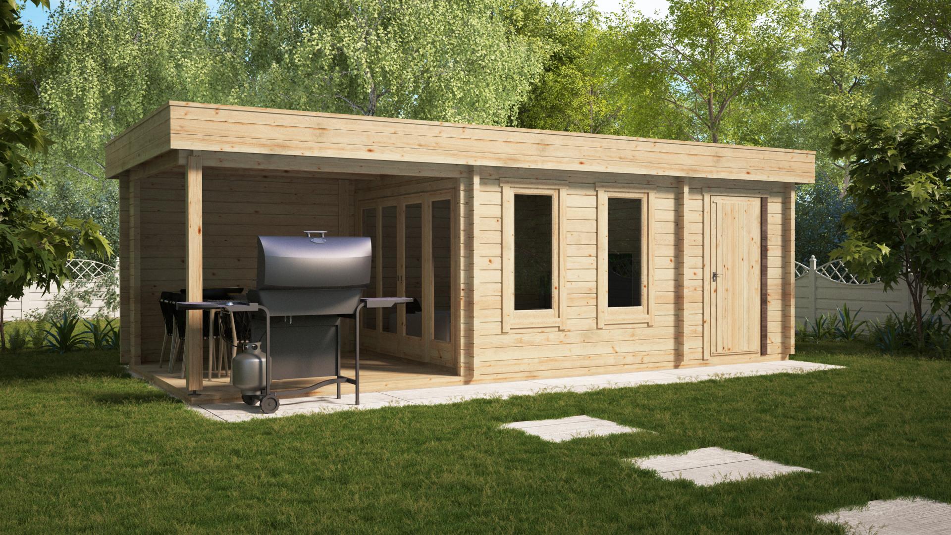 garden construction multifunctional garden log cabin super lucas e 15m 8 x