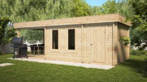 Caseta de jardín multifuncional Super Lucas E 3 x 8 m