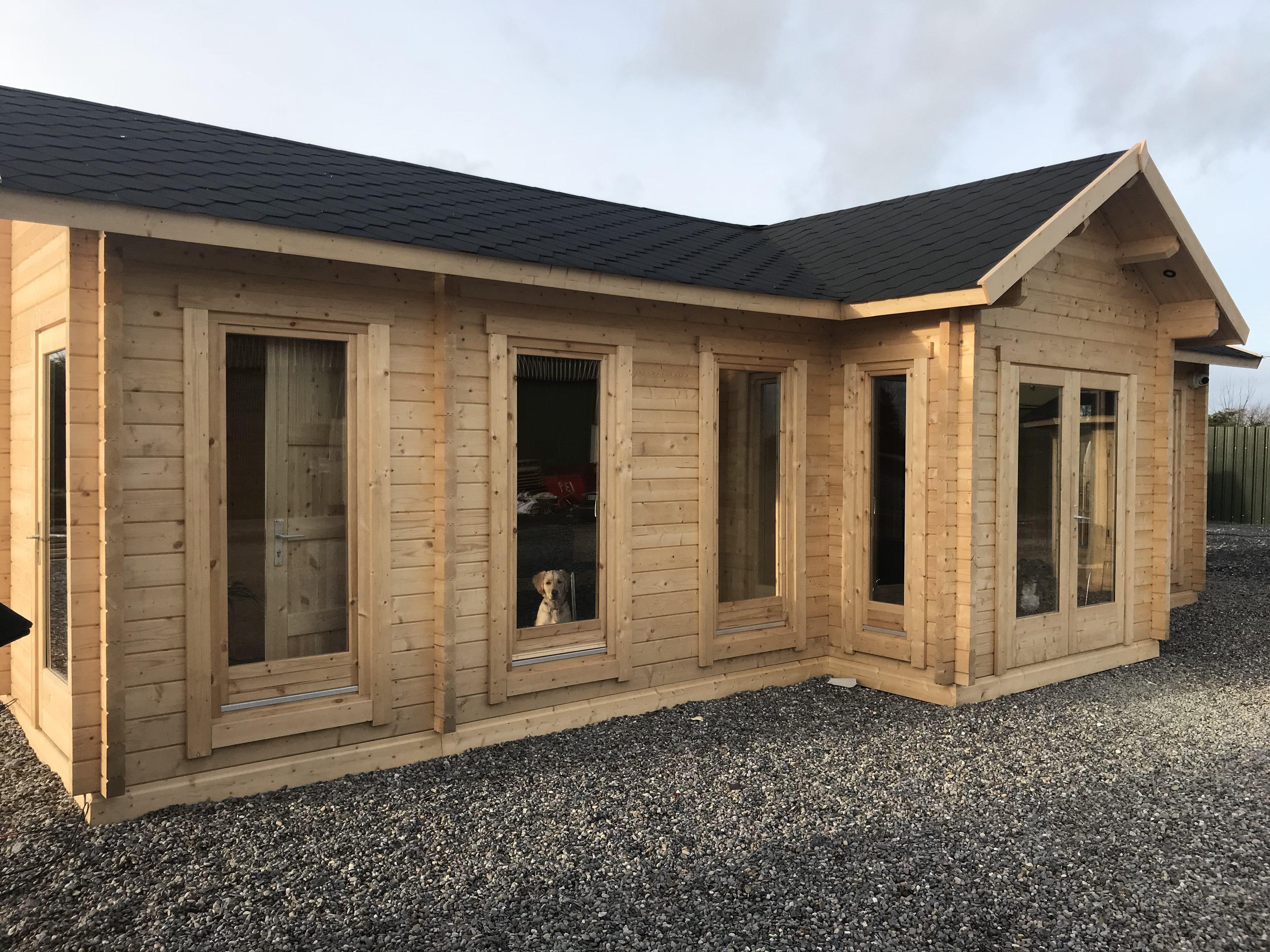 office in the garden. Large Garden Log Cabin The Hansa Office In Y