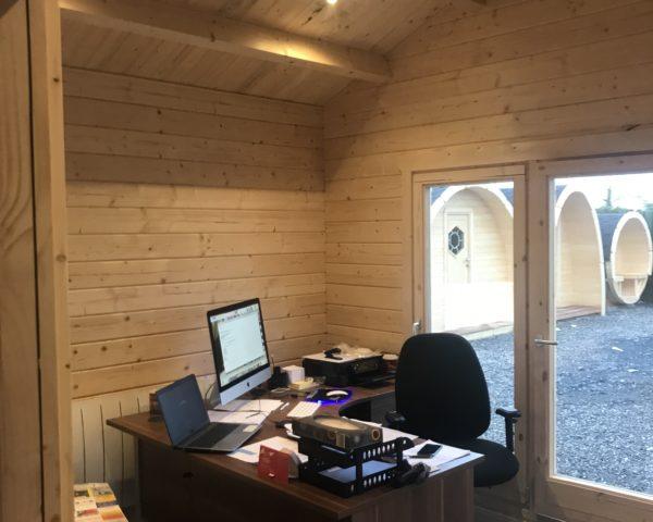 Casa de Madera Hansa Office 40m2 / 70mm / 4 x 10m