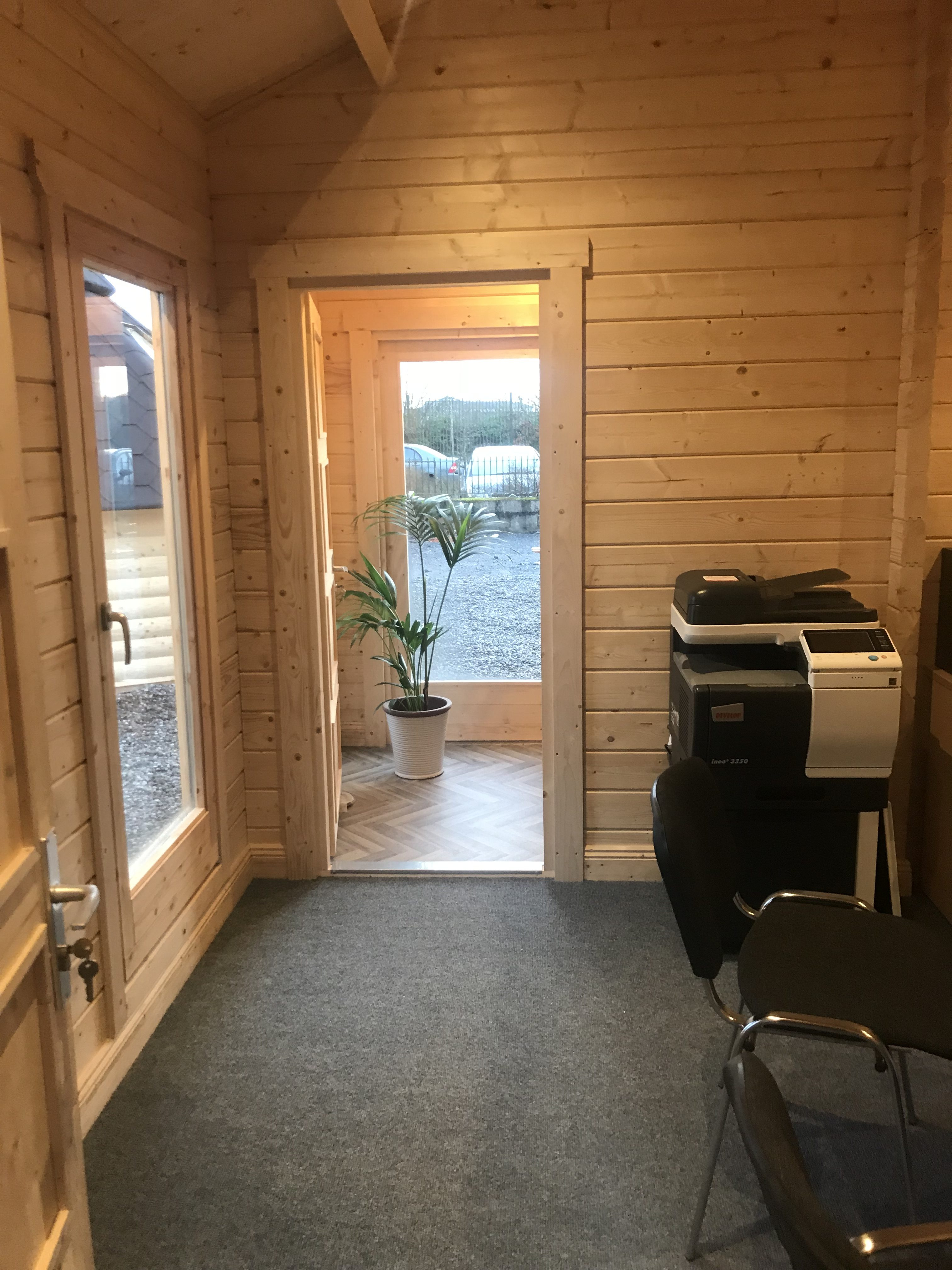 Garden Log Cabin The Hansa Office 40m2 70mm 4 X 10m