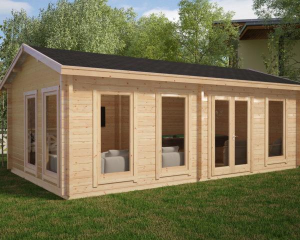 Caseta de jardín grande modelo F