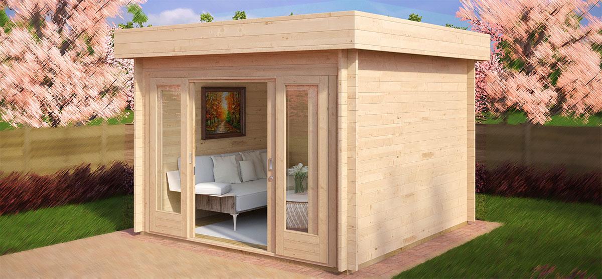 Claves para instalar techos planos con parapetos en su caseta de jardín
