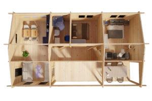 Casa de madera con dos dormitorios Holiday K