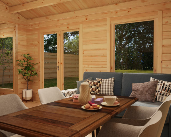 Casa de madera Sweden C con un dormitorio