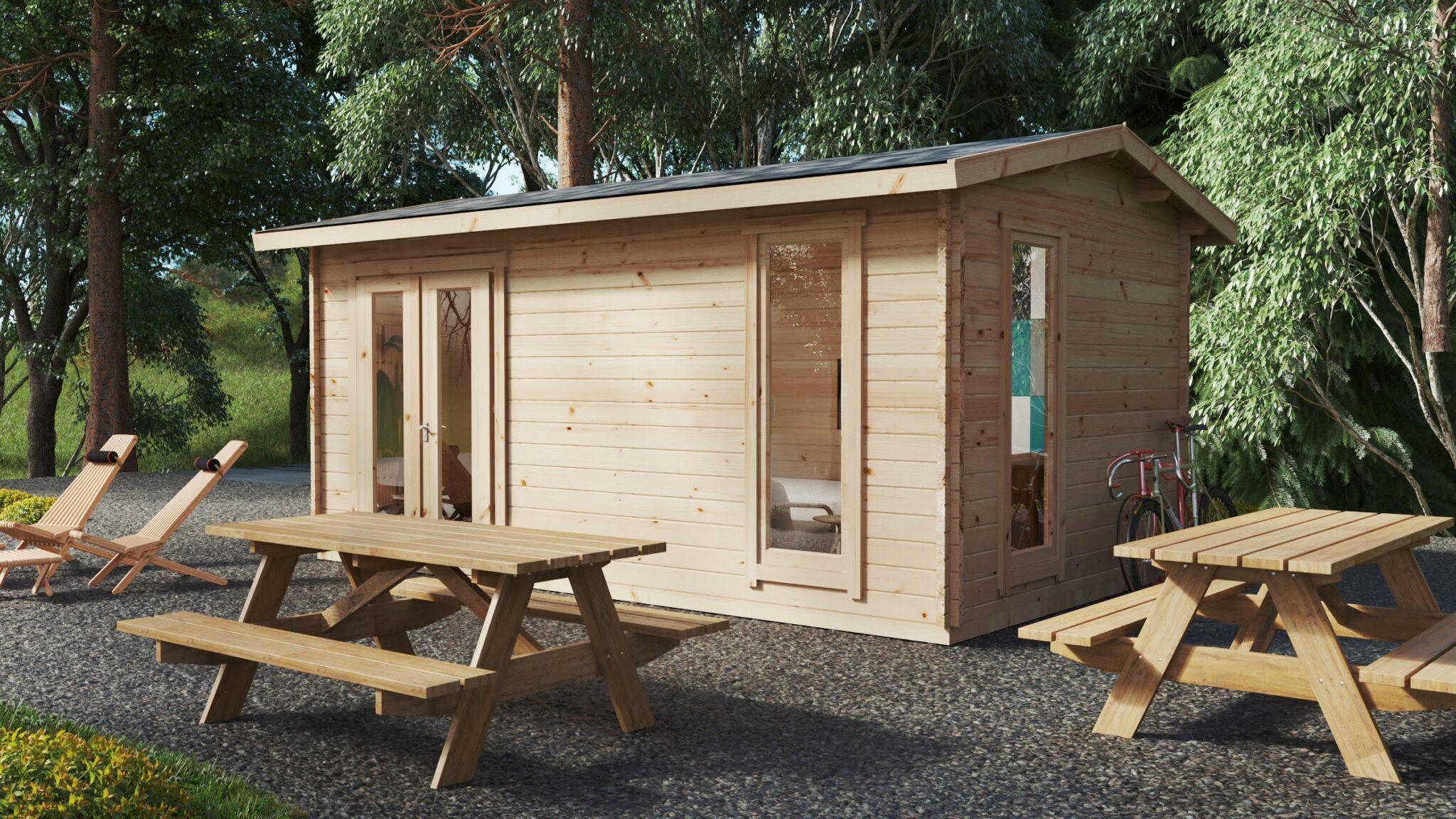 Cabaña de madera con cuarto de baño Mia 1 / 15m² / 5x3m ...