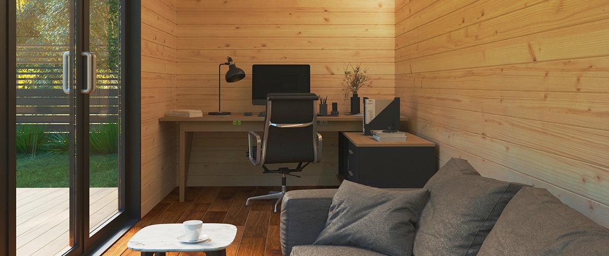 10 ventajas de una oficina en el jardín