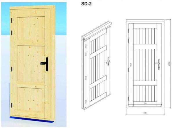 Caseta de jardín y trastero combinados Super Tom DS puerta