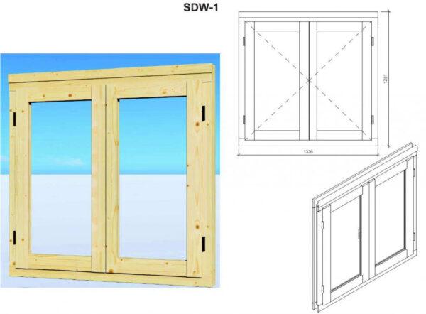Caseta de jardín y trastero combinados Super Tom DS ventana