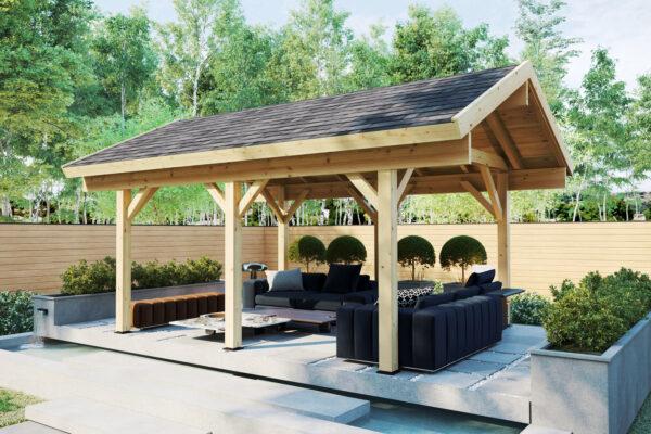 Pabellón grande de madera Henley