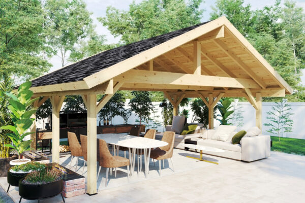 Pabellón grande de madera Henley XL