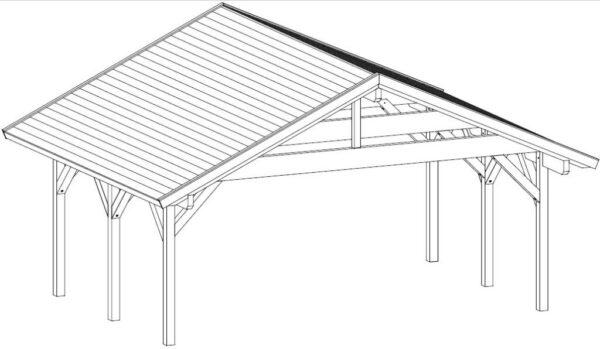 Pabellón grande de madera Henley XL XL