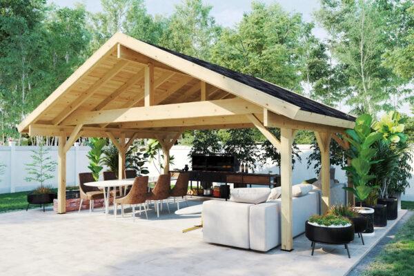 Pabellón grande de madera XL Henley